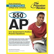 550 AP U.S. Government & Politics Practice Questions (College Test Preparation) Paperback