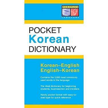 Pocket Korean Dictionary Seong-Chul Shin, Gene Baik Paperback