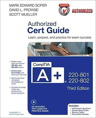 CompTIA A+ 220-801 and 220-802 Authorized Cert Guide Hardcover