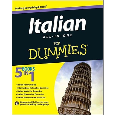 Italian All-in-One For Dummies (For Dummies (Language & Literature)), Used Book, (1118510605)