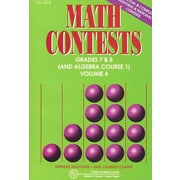 Math Contests, Grades 7 & 8 (and Algebra Course 1)
