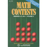 Math Contests, Grades 4, 5 & 6, Vol. 3: School Years 1991-92 Through 1995-96