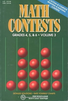Math Contests, Grades 4, 5 & 6, Vol. 3: School Years 1991-92 Through 1995-96