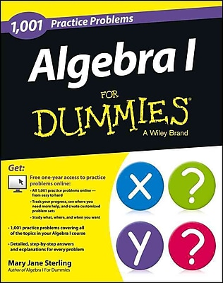 1,001 Algebra I Practice Problems For Dummies