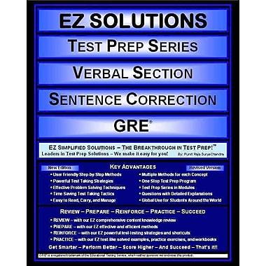 EZ Solutions -Test Prep Series - Verbal Section - Sentence Correction - GRE (Ez Test Prep)