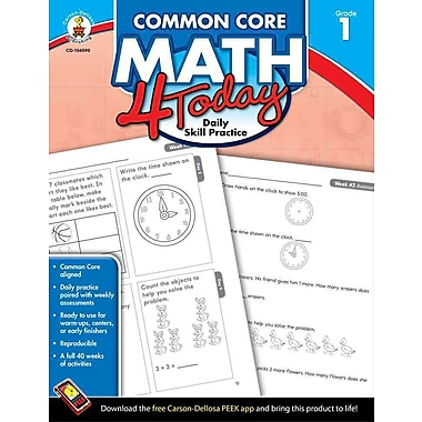 Common Core Math 4 Today, Grade 1: Daily Skill Practice (Common Core 4 Today), Used Book, (1624425998)