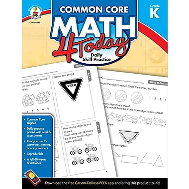 Common Core Math 4 Today, Grade K: Daily Skill Practice (Common Core 4 Today)