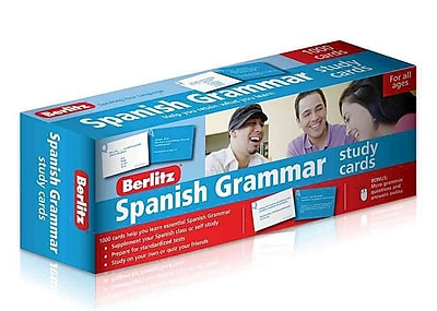 Spanish Grammar Study Cards (English and Spanish Edition)