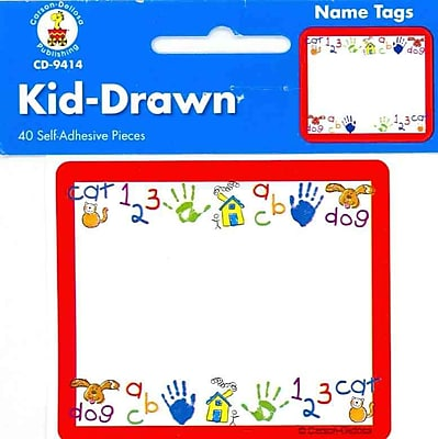Carson Dellosa Kid-Drawn Name Tags (9414)