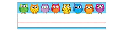 Carson Dellosa Colorful Owls Nameplates