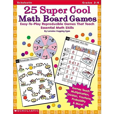 Scholastic Teaching Resources 25 Super Cool Math Board Games (SC-0590378724)