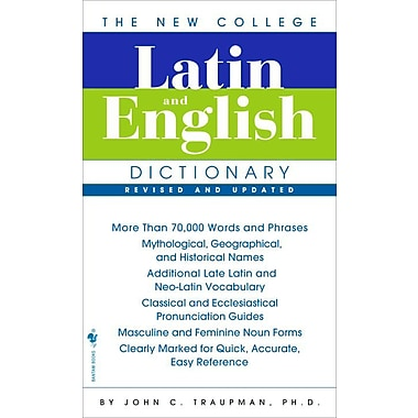 The Bantam New College Latin & English Dictionary, New Book, (0553590128)