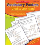 Scholastic Vocabulary Packets, Greek & Latin Roots, Grades 4-8