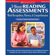 3-Minute Reading Assessments Nancy Padak, Timothy V. Rasinski Paperback