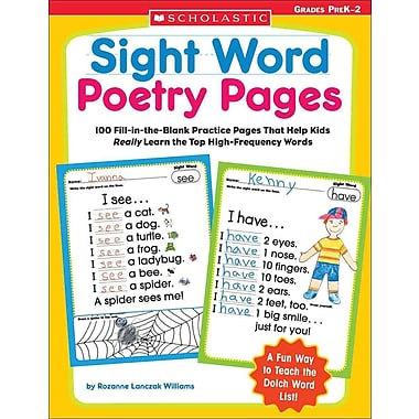 Sight Word Poetry Pages: 100 Fill-in-the-Blank