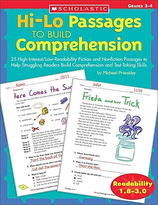 Hi-Lo Passages To Build Reading Comprehension Skills