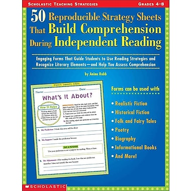 50 Reproducible Strategy Sheets That Build Comprehension During Independent Reading Paperback