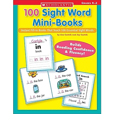 Scholastic 100 Sight Word Mini-Books, Lisa Cestnik & Jay Cestnik, Paperback (SC-0439387809)