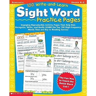 Scholastic 100 Write-And-Learn Sight Word Practice Pages, Paperback (SC-0439365627)