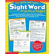 Scholastic 100 Write-and-Learn Sight Word Practice Pages, Grades K-2 by, Paperback (9780439365628)