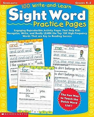 100 Write-and-Learn Sight Word Practice Pages Scholastic Teaching Resources Paperback