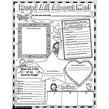 Instant Personal Poster Sets: Read All About Me Scholastic Teaching Resources Misc. Supplies, 60/Pack (SC-0439152852)