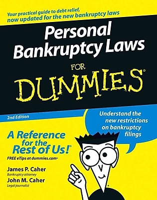 Personal Bankruptcy Laws For Dummies James P. Caher, John M. Caher Paperback