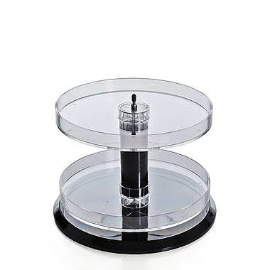 Azar Displays 2-Tier Acrylic Open Round Tray (227020)