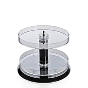 Azar Displays Two Tier Acrylic Open Round Tray