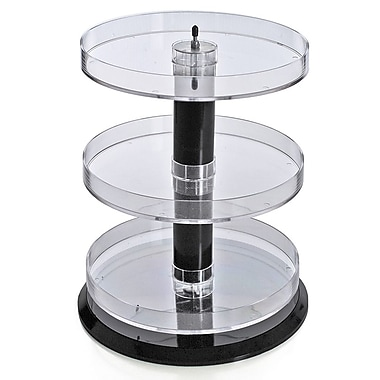 Azar Displays 3-Tier Acrylic Open Round Tray (227030)