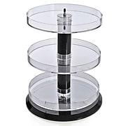 Azar Displays Three Tier Acrylic Open Round Tray
