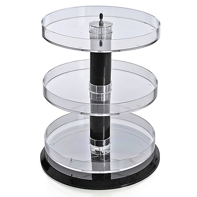 Azar Displays Three Tier Acrylic Open Round Tray