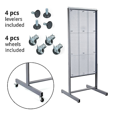 Azar Displays Clear Pegboard Display, 48