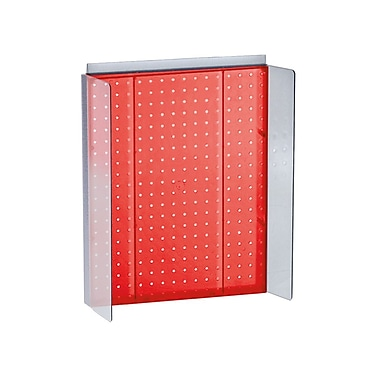 Azar Displays – Présentoir Powerwing à panneau perforé, 16 x 20,25 po, rouge (700357-RED)