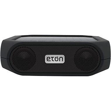 Eton Rugged Rukus Solar Powered Bluetooth Speaker, Black
