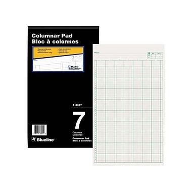 Blueline® Gummed Columnar Pad, A3307, 7 Columns, 8-1/4