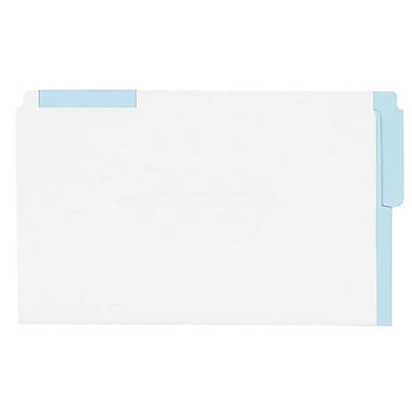 Pendaflex® Legal End Tab Folder with Coloured Strips, Light Blue, 100/Box