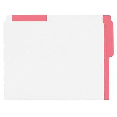 Pendaflex® Letter Top End-Tab Letter File Folder with Coloured Strips, Red, 100/Box