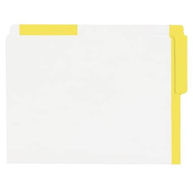 Pendaflex® Letter Top End-Tab Letter File Folder with Coloured Strips, Yellow, 100/Box