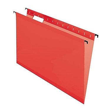Pendaflex® SureHook™ Reinforced Hanging Folder, Letter Size, Red, 20/Box