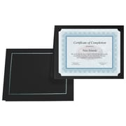 First Base Gold Foil Stamped Certificate Holder, Black, 5/Pack