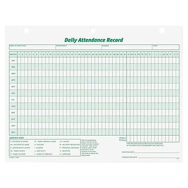 TopsMD – Fiche de présence quotidienne, 3284, blanc, 50/paquet