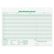 Tops® Daily Attendance Record Form, 3284, White, 50/Pack