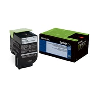 Lexmark 70C1HK0 Black Return Program Toner Cartridge, High Yield (70C1HK0)
