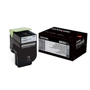 Lexmark 80C0S10 Black Toner Cartridge, Standard Yield (80C0S10)