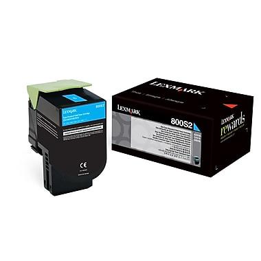 Lexmark 800S2 Cyan Toner Cartridge, Standard Yield (80C0S20)