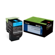 Lexmark 80C1HC0 Cyan Return Program Toner Cartridge, High Yield (80C1HC0)