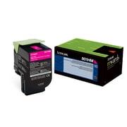 Lexmark 80C1HM0 Magenta Return Program Toner Cartridge, High Yield
