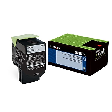 Lexmark 801K Black Return Program Toner Cartridge (80C10K0)