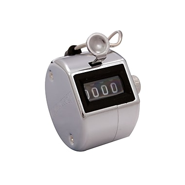 Marathon Chrome Handheld Tally Counter, Chrome